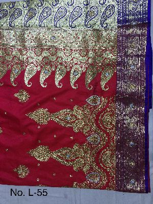 Nylon Lacha Embroidered Sarees 11