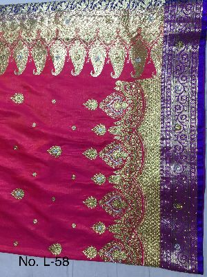 Nylon Lacha Embroidered Sarees 12