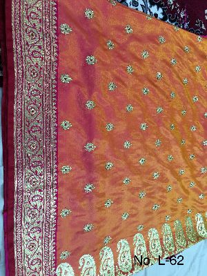 Nylon Lacha Embroidered Sarees 15
