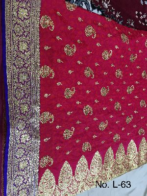 Nylon Lacha Embroidered Sarees 16
