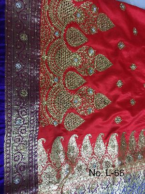 Nylon Lacha Embroidered Sarees 19