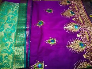 Nylon Lacha Embroidered Sarees 20