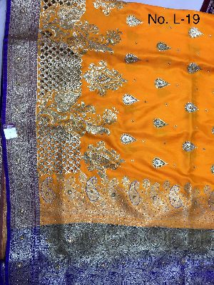 Nylon Lacha Embroidered Sarees 21