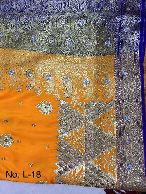 Nylon Lacha Embroidered Sarees 22