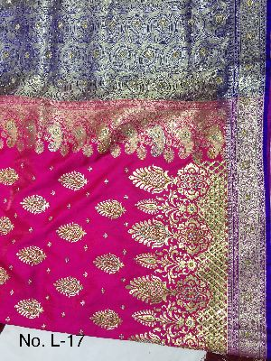 Nylon Lacha Embroidered Sarees 23