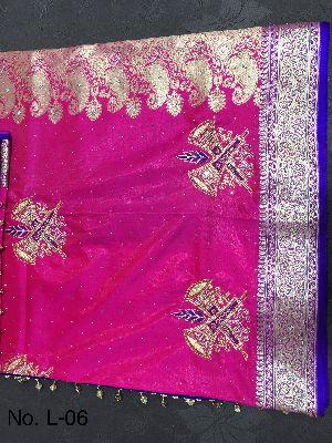 Nylon Lacha Embroidered Sarees 27