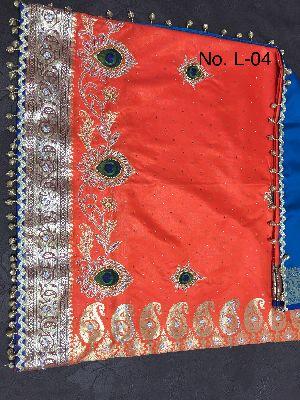 Nylon Lacha Embroidered Sarees 29