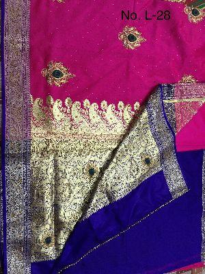 Nylon Lacha Embroidered Sarees 30