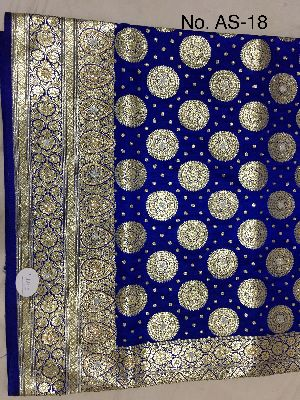 Satin Embroidered Saree 01