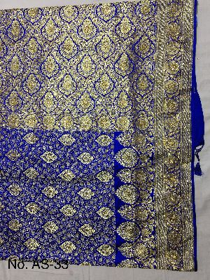 Satin Embroidered Saree 04