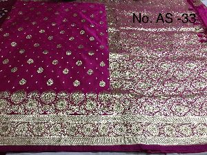 Satin Embroidered Saree 06