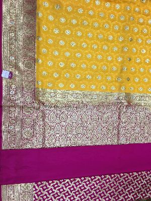 Satin Embroidered Saree 07