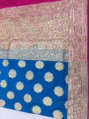 Satin Embroidered Saree 10
