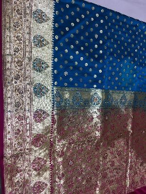 Satin Embroidered Saree 11