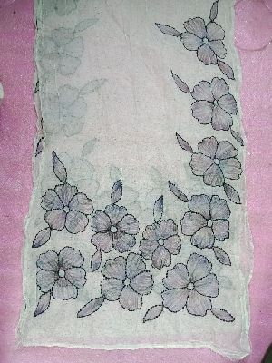 Silk Embroidered Stoles 12