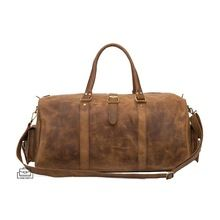 leather weekend mens travel duffel bag