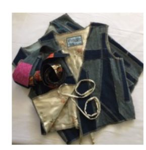 Handmade Patchwork Designer Denim Vests & Belts
