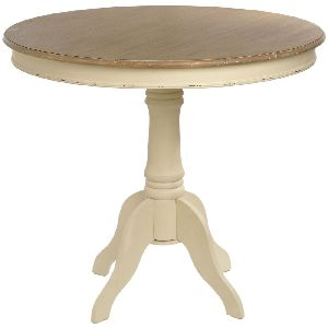 FRENCH STYLE ROUND WOOD DINING TABLE