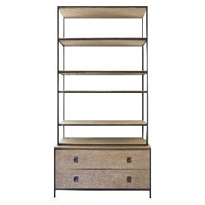 MODERN INDUSTRIAL SHELF CUM BOOKCASE WITH DRAWERS
