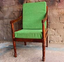 Modern Vintage Designer Rose Wood Leg Arm Chair