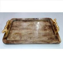 Custom food serving wooden tray