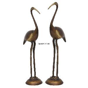 Brass Bird Pair Statue