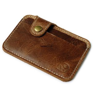 Dark Brown Leather Card Holder