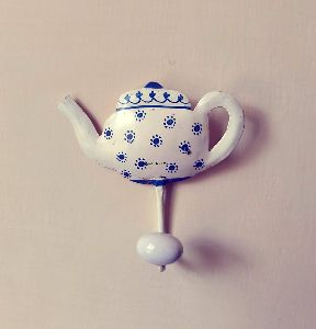 Iron Tea Pot Design Wall Hanger