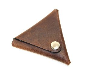 Leather Brown Leather Coin Holder