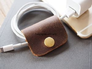 Leather Multipurpose Clip Cable Organiser
