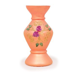 Orange Glass Flower Vases