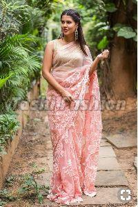 Ladies fancy net Saree