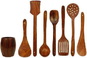 Wooden Kitchen Tool Set