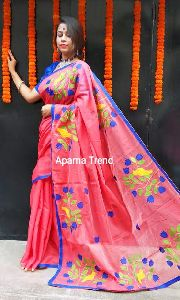 Applique Bird Saree