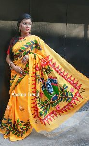 Hand Painted Pure Cotton Saree
