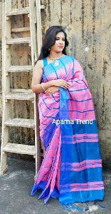 Cotton Silk Check Saree