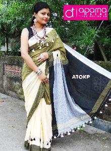 Khadi Pompom Saree