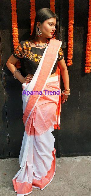 Plain Khadi Saree 01