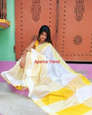 Plain Khadi Saree 04