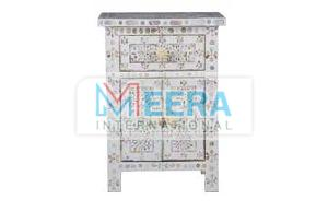 MB206 Mother of Pearl Bedside Table