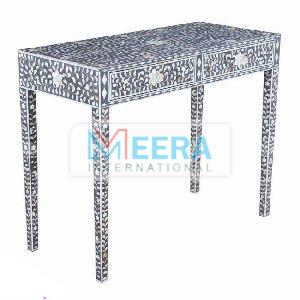 MB228 Bone Inlay Console Table