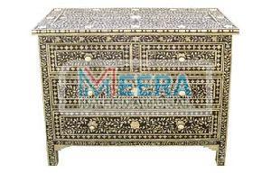 MB233 Bone Inlay Drawer Cupboard