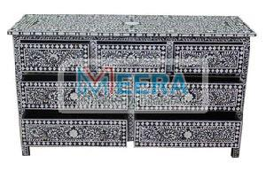 MB235 Bone Inlay Drawer Cupboard