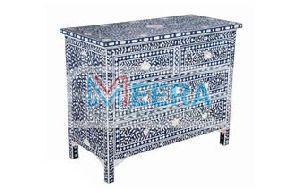 MB245 Bone Inlay Drawer Cupboard