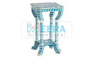 MB257 Bone Inlay End Table