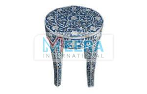 MB258 Bone Inlay End Table