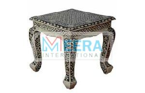MB259 Bone Inlay End Table