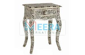 MB260 Bone Inlay End Table