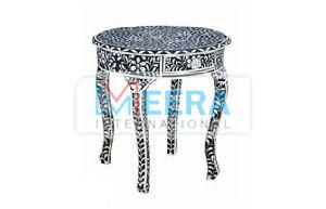 MB262 Bone Inlay End Table