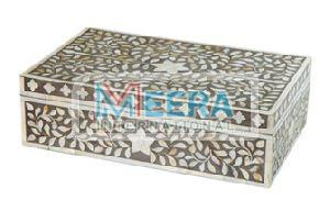 MB272 Bone Inlay Jewellery Box